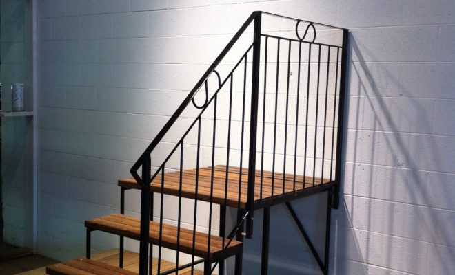 Portable Steps With Railing : Ott mfg farm supply and mobile home steps